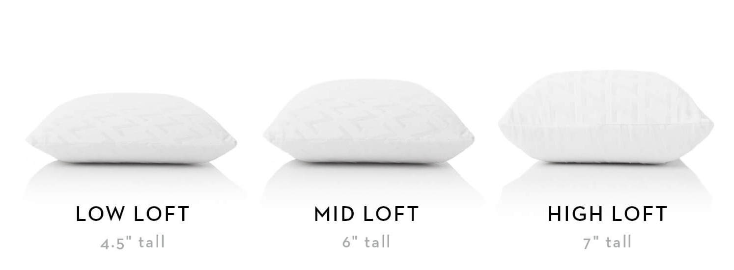 gel dough zoned mid loft pillow size