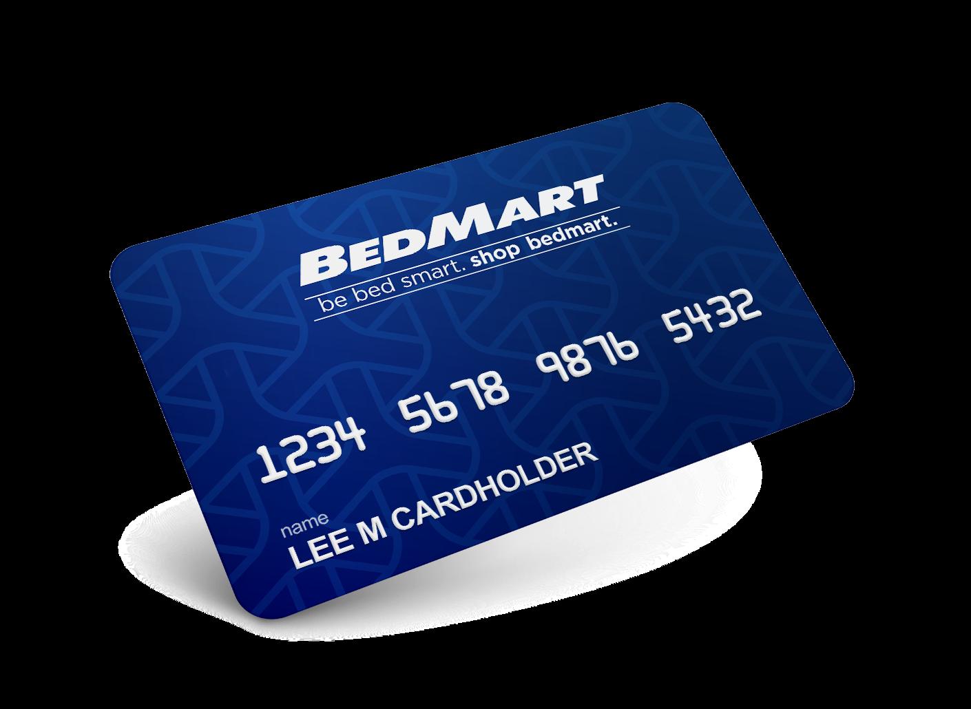 BedMart Zero Percent Interest Mattress Financing Card