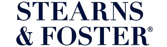 stearns and foster mattress brand logo stacked