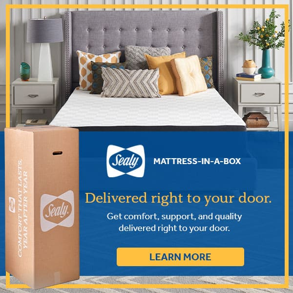 sealy mattress in a box delivered right to door